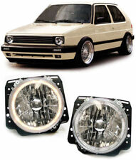 CLEAR ANGEL EYE HEADLIGHTS HEADLAMPS FOR VW GOLF MK2 MK 2 19E  8/1983-12/1992