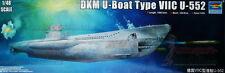 Escala 1/48th la segunda guerra mundial Dkm U-Boat Tipo VIIC U-552 kit modelo de trompetista - 06801