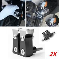 2xM8 Bolt Black Motorcycle Head Fog LED Light Bracket Mounting Post Support Base