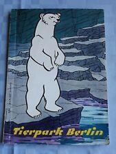Rarität Broschüre Tierpark Berlin 1958 mit 68 Seiten und Lageplan / Fotos / A5