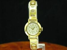 Exquisit Gold Mantel/Stainless Steel Hand Wound Women's Watch/Caliber 43