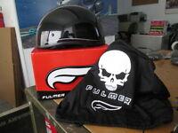 Fulmer BelAir Bel-Air Gloss Black w/ Pink Pinstripe Half 1/2 Helmet AF900 A05
