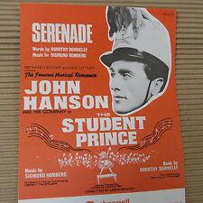 """Canción Hoja Serenata """"el estudiante Prince"""" Siegmund Romberg, John Hanson"""