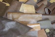 500g IN PELLE OFF tagli Italiano Vero Cuoio Marrone Bronzo Scuro 0.8/1.1 mm di spessore