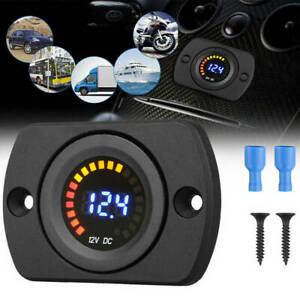 DC 12V Digital Voltmeter LED Panel Spannungsanzeige Meter für Auto Motorrad XY