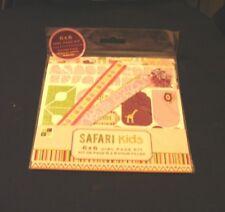 DCWV-Safari Kids-6x6 Girl Page Kit-6 Prints, 2 Sticker Sheets,& Brads- Brand New