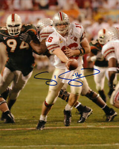 Craig Krenzel signed Ohio State Buckeyes Tostitos Fiesta Bowl 8x10 Photo #16
