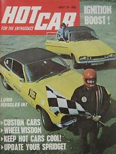 Hot Car magazine 07/1972 featuring DAF Marathon, Triumph TR4A, Ginetta G15