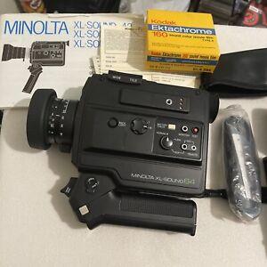 Minolta XL-Sound 64 Super 8 Movie Camera Bundle- 1 Roll Ektachrome, Marsand Case