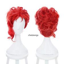 Kakyoin Noriaki From JOJO 35cm Culy Red Styling Cosplay Anime Wig.Synthetic Hair