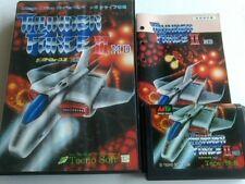 THUNDER FORCE 2 II SEGA MEGA DRIVE (Genesis ) Shooter game Cartridge set -A-