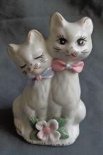 vintage porseleinen POEZENBEELDJE POEZEN BEELDJE H12xB7,5cm ceramic cat figurine