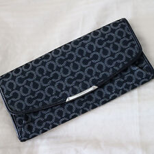NWT COACH Madison Black OP Art Signature Slim Envelope WALLET CLUTCH NEW