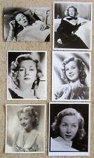 GLORIA GRAHAME ORIGINAL1940's SET OF 6BW PHOTO STILLS 1 NEGATIVE EX