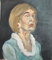 IMPRESSIONIST OIL PAINTING WOMAN PORTRAIT SIGNED