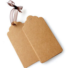100pcs Vintage Kraft Paper Gift Hang Tags Jewelry Labels Tag Marker Note Craft