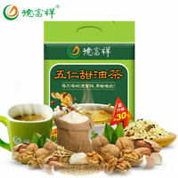 Shaanxi specialties(德富祥 油茶面400g/袋)(Fried flour 400g/bags)陕西特产 油茶 清真早餐食品油炒面Snacks