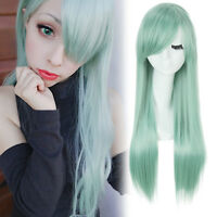 The Seven Deadly Sins Elizabeth Cosplay Wig Green Straight Long Women Wigs