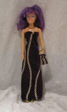 JEM, HOLOGRAMS, MISFITS Doll Clothes #64 Dress, Purse & Beaded Necklace Set