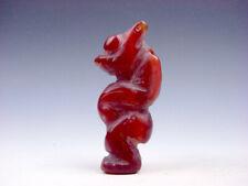 Old Nephrite Jade Carved HongShan Culture Sculpture Big Belly Figurine #11181916