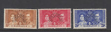 Barbados.  1937.  Coronation.  SG245-247s - Perf Specimen - Unmounted mint