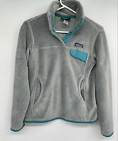 Patagonia  Retool Snap T Fleece 1/4  Pullover Women's Jacket Gray sz Small