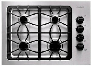 Frigidaire FFGC3025LS 30 Inch Gas Cooktop with 4 Sealed Burners, Cast Iron Grate