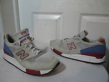 2014 NEW BALANCE 998 10 11 GREY BLUE RED BROWN USA RONNIE FIEG 576 US 10 UK 9½