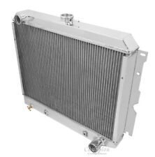 "1962-1967 ChevyII Nova Radiator,3 Row Champion, Carbon Fiber Shroud & 2-10"" Fans"