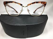 54fc92e0e09 New Authentic Prada VPR 14S UBM-1O1 Brown Havana Eyeglasses 53 16 140