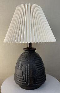 Vintage Mid Century Modern Brutalist Tribal Witco Mayan Space Capsule 70's Lamp