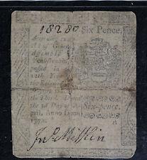 1772 Pennsylvania 2 Shillings 6 Pence Colonial Currecny Note