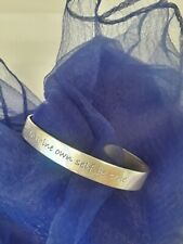To Thine Own Self Be True Bracelet Cuff Bangle Religious Hamlet STERLING SILVER