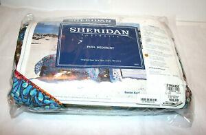 "Sheridan Australia Full Size Bedskirt Coral Barrier Reef Design 54""x76"""