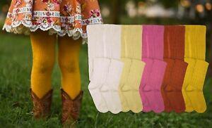 Jefferies Socks Girls Cable Knit Pattern Fashion Vintage Cotton School Tight 2PK