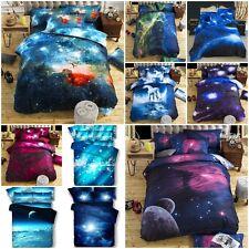 Universe 3D Bedding Space Cosmos Star Sky Sets Duvet Pillowcase Cover Bed Sheet