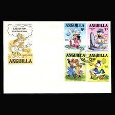 Anguilla, FDC, Disney, Easter, 1981, Daisy Duck, Minnie, Donald, DI118
