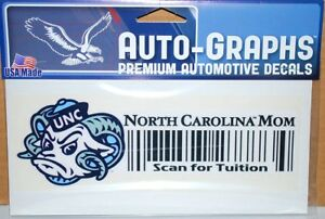 North Carolina Tarheels UNC Mom Tuition Barcode Decal TOTAL CLOSEOUT
