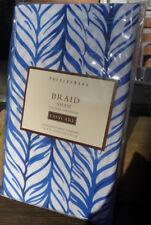 Pottery Barn Braid single Pillow Sham standard Blue nautical rope