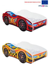 Racing Car Bed 2 colours, Childrens Bed with mattress 140x70cm FREE EU Delivery
