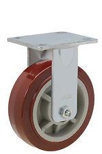 "Rigid Plate Caster: TP 4x4-1/2. Polyurethane on Poly Wheel: 5"" x 2"". Bearing."