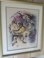 Judaica by Ira Moskowitz Original Signed Lithograph 1967 Atelier Mourlot Edition