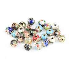 200pcs Wholesale mixed Chinese cloisonne flower beads finding 8mm HN