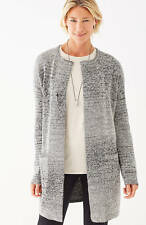 NWT - J. Jill - Pure Jill Grey Heather Multi Space-Dyed Topper, L perfect for XL