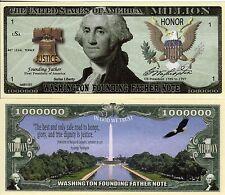 President George Washington Million Dollar Novelty Money