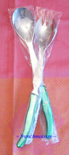 CLAUDE DOZORME Laguiole French Bee Dinner Lunch SALAD FORK + SPOON Set Green New