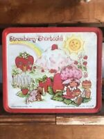 Strawberry Shortcake Metal Lunchbox Vintage 1980 Aladdin with Dolls