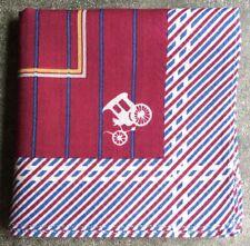 "HANDKERCHIEF ART CLASSIC PARIS RED LINE CARRIAGE MEN'S POCKET SQUARE SCARF~16"""