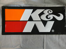 K&N Filters Embossed Metal Sign! LOOK!!!! Hangable!!