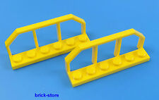 LEGO Railway / train 1x6 yellow / Wagon Grid Fence / 2 Pcs